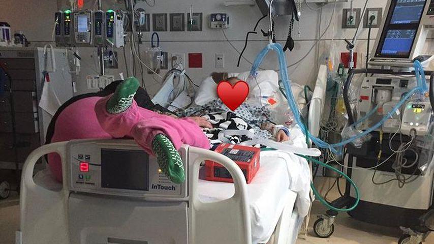 Maddie Briann Aldridge 2017 im Krankenhaus