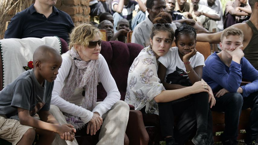 Madonna mit ihren vier Kids, 2013