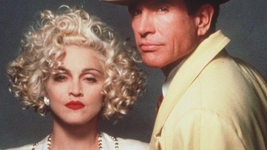 Madonna und Warren Beatty