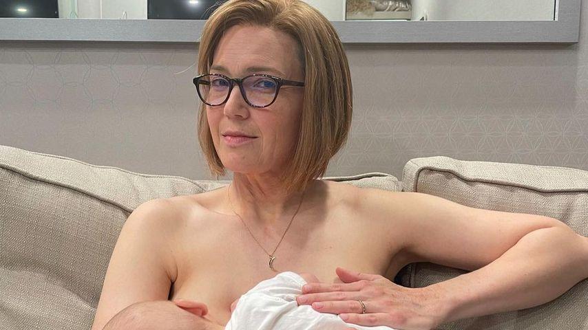 """Mandy Moore am Set von """"This Is Us"""" mit Sohn August"""