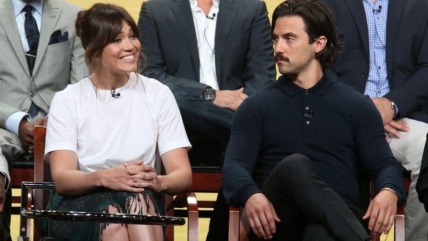 """Mandy Moore und Milo Ventimiglia bei einer Pressekonferenz ihrer Serie """"This Is Us"""""""