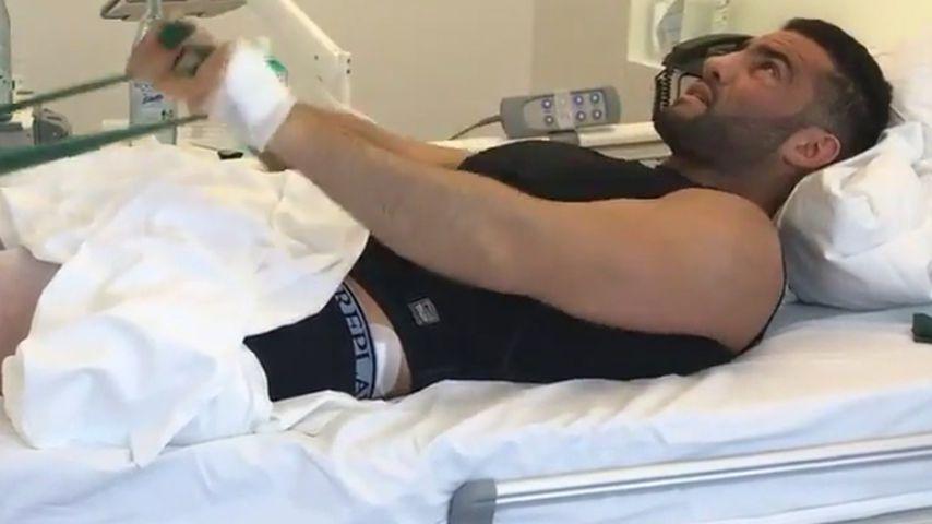 Nach OP: Boxer Manuel Charr trainiert schon im Krankenbett!