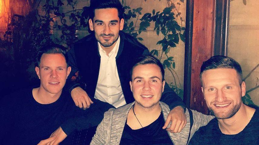 Marc-André ter Stegen, Ilkay Gündogan, Mario Götze und Shkodran Mustafi in Rom