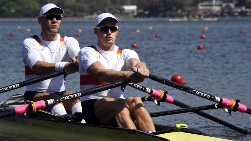 Marcel Hacker (l.) und Stephan Krüger bei den Men's Double Sculls (Olympia 2016)