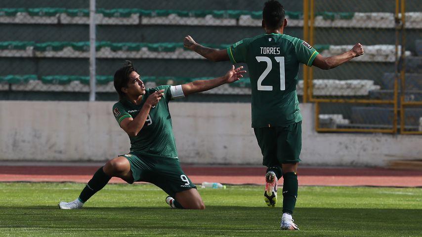 Marcelo Moreno bei der Partie gegen Argentinien