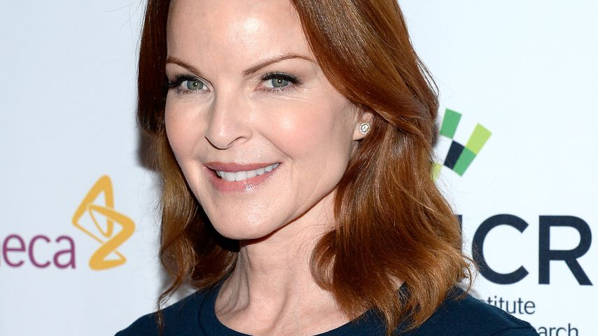 "Huch! ""Desperate Housewives""-Marcia umzingelt von Nackedeis"