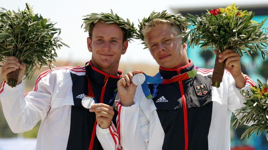 Marcus Becker (l.) und Stefan Henze (r.) bei den Olympischen Spielen in Athen 2004
