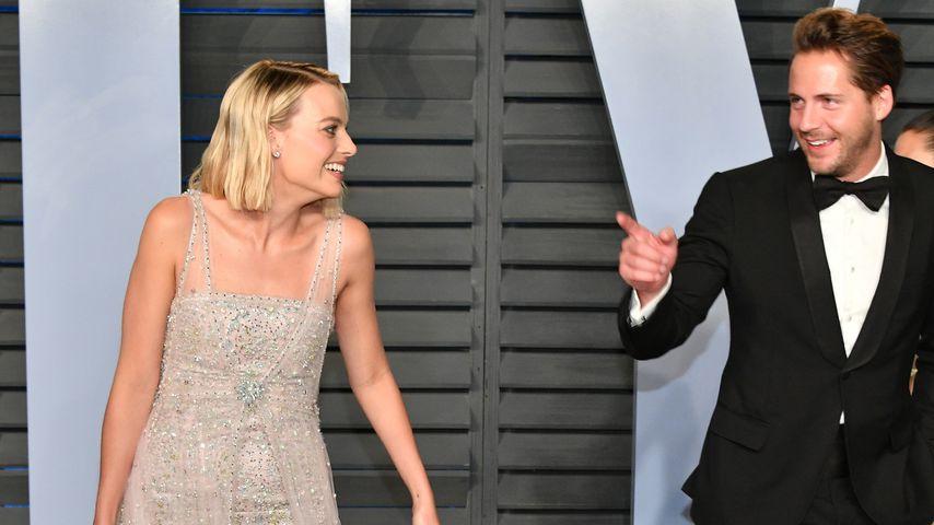Margot Robbie und Tom Ackerley bei der Vanity Fair Oscar Party 2018