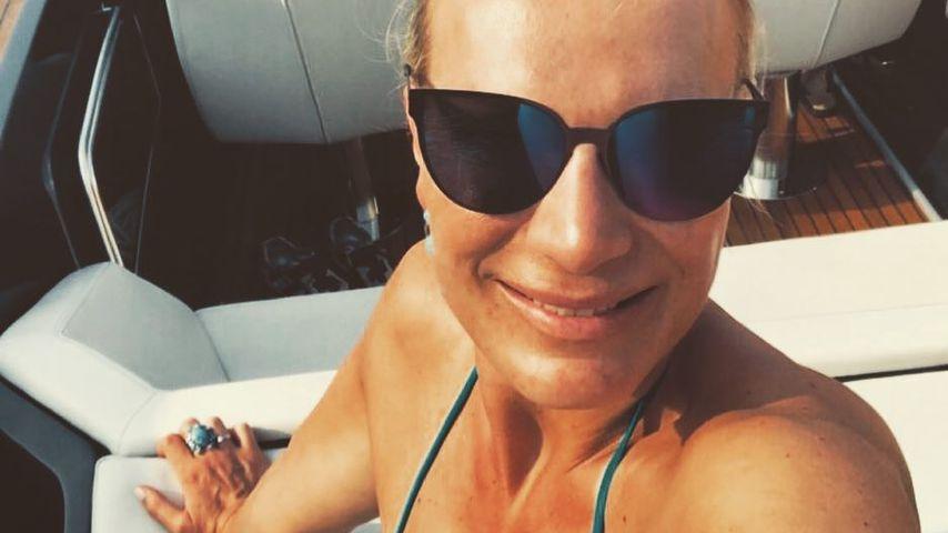 Maria Höfl-Riesch im Urlaub 2018