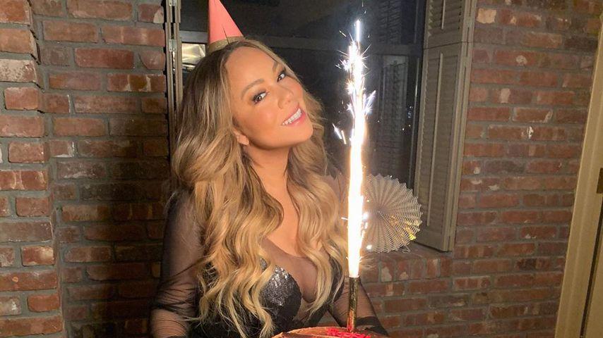 Mit Mega-Dekolleté: So feierte Mariah Carey ihren Geburtstag