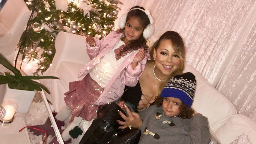 Mariah Carey mit ihren Kindern Monroe und Moroccan Cannon 2016