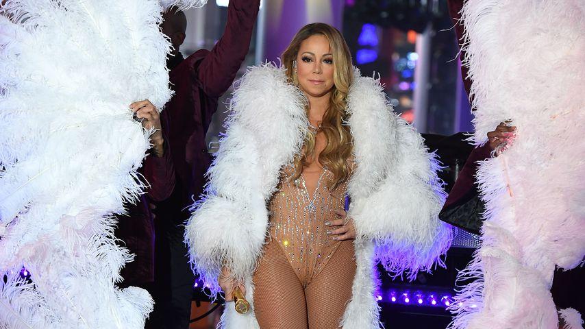 Mariah Carey auf dem Times Square in New York