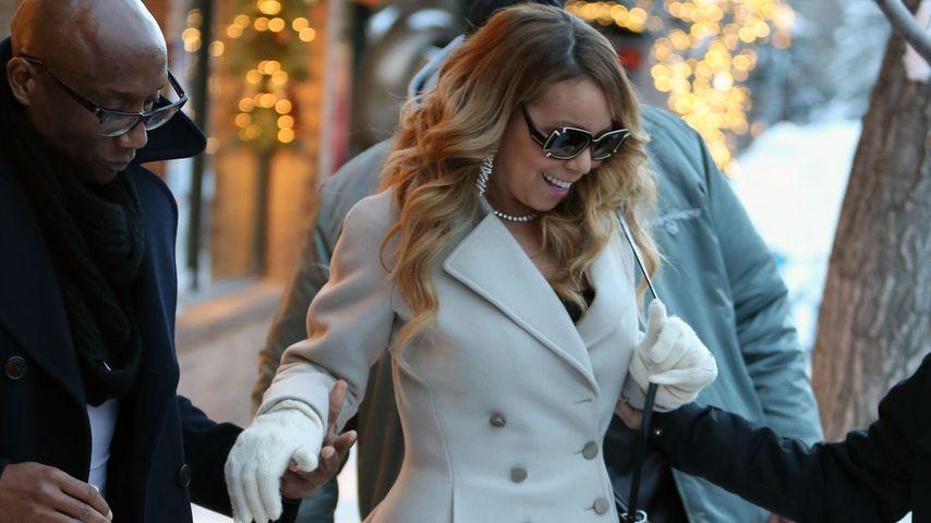 Elegant! Mariah Carey stöckelt durch den Schnee
