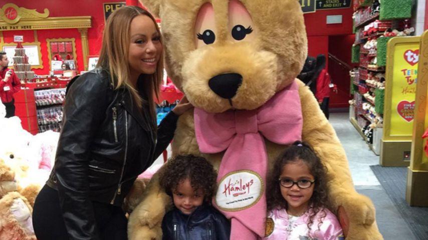 Trotz Tour-Stress: Mariah Carey & Kids erobern Shopping-Mall