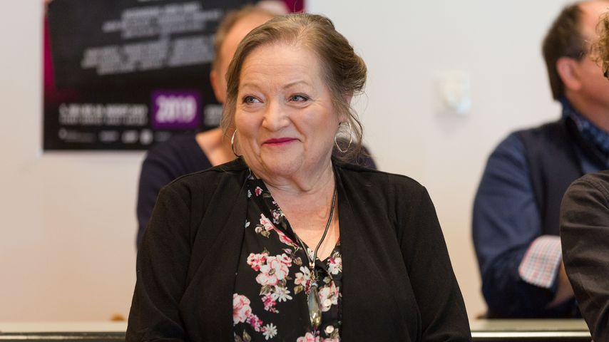 Marianne Sägebrecht bei einer Pressekonferenz