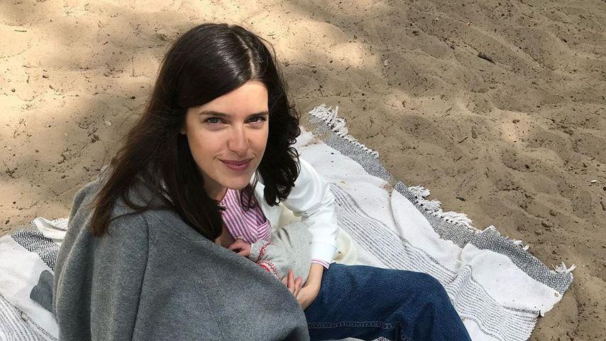 Marie Nasemann mit ihrem Baby, Mai 2020