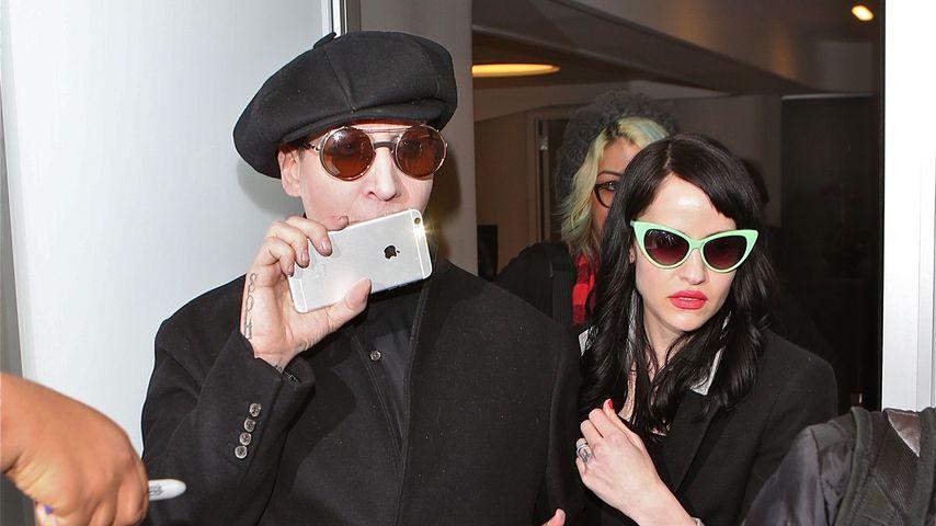 Seltener Anblick: Marilyn Manson & Lindsay privat