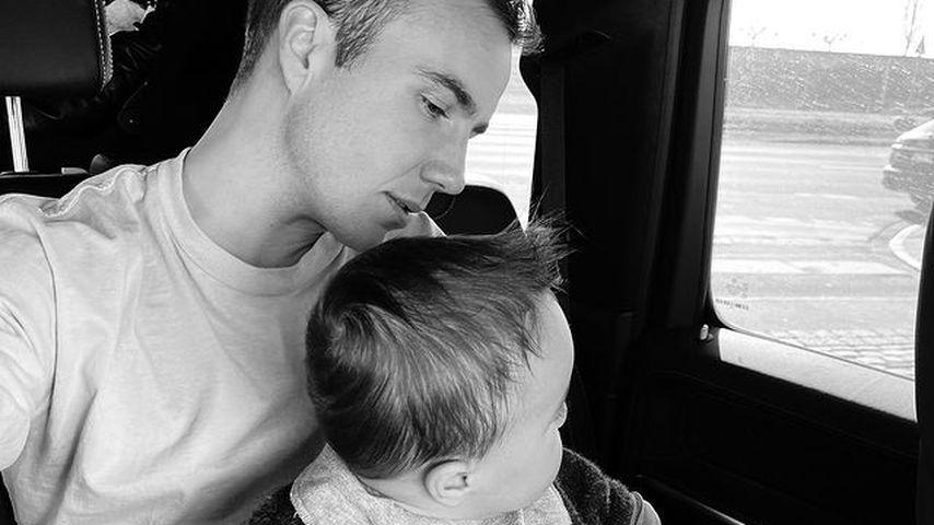 Vater-Sohn-Zeit: Mario Götze teilt süßes Foto mit Baby Rome
