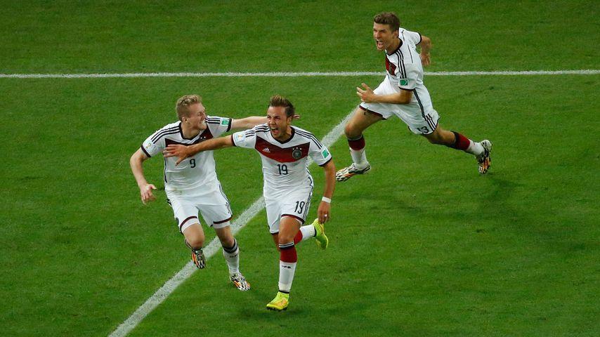 André Schürrle, Mario Götze und Thomas Müller im WM-Finale 2014