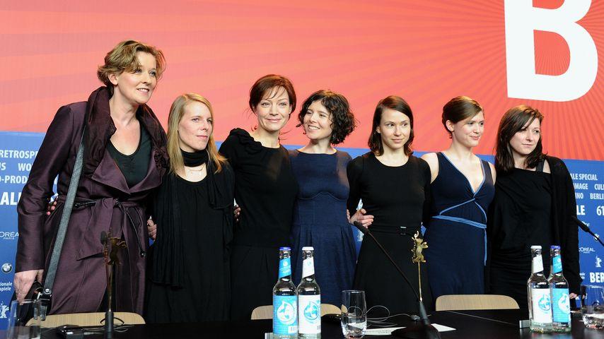 Marion Mitterhammer mit Kolleginnen auf der Berlinale 2011