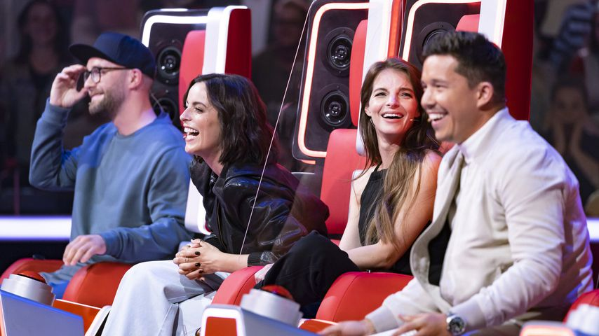 "Mark Forster, Stefanie Kloß, Yvonne Catterfeld und Nico Santos bei ""The Voice of Germany"""