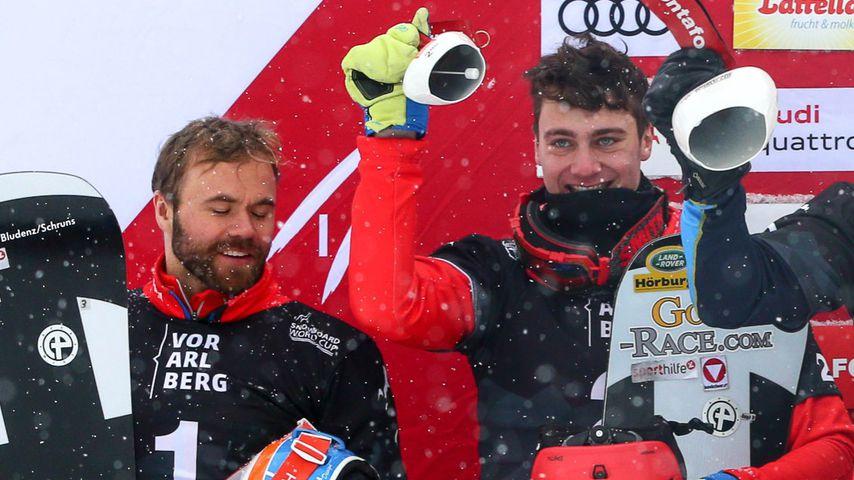 Markus Schairer (l.) und Alessandro Haemmerle aus Österreich bei den Olympischen Winterspielen 2018