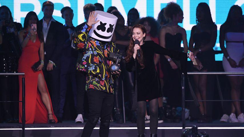 Marshmello und Lindsay Lohan, 2019