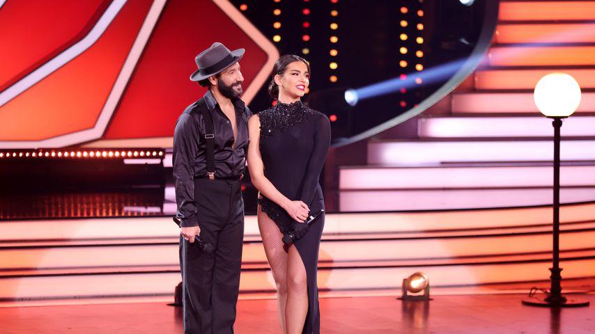 "Massimo Sinató und Lili Paul-Roncalli bei ""Let's Dance"" 2021"