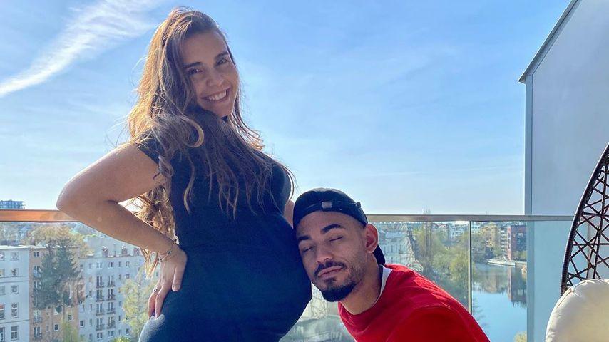Matheus Cunha mit seiner schwangeren Freundin