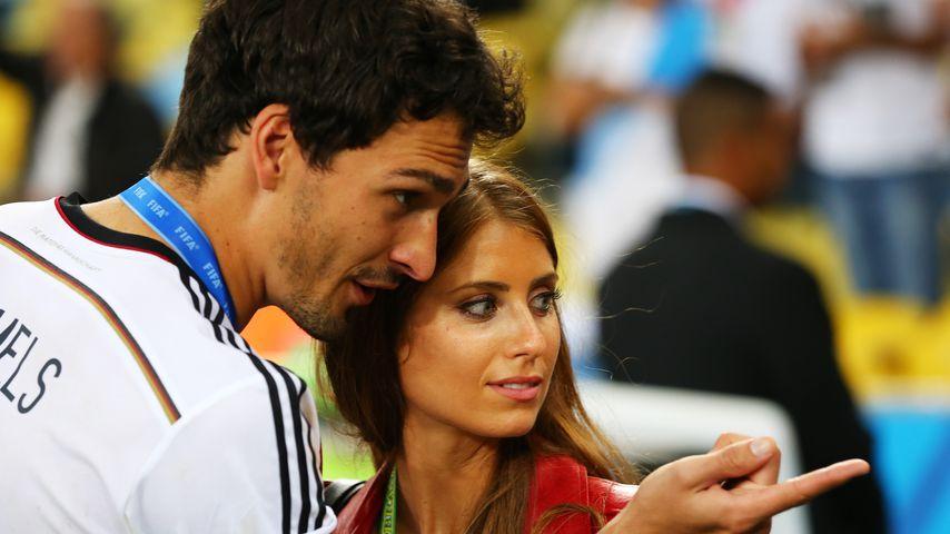 Mats Hummels und Cathy Hummels bei der FIFA WM 2014