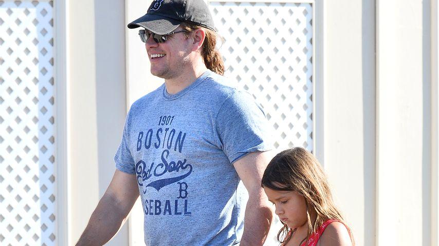 Matt Damon und Tochter Gia