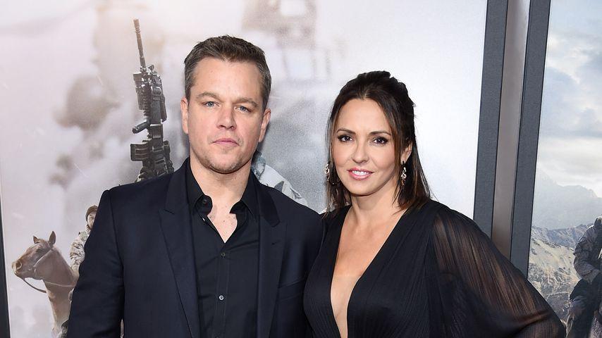 """Matt Damon und Luciana Barroso auf der Premiere von """"12 Strong"""""""