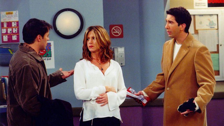 """Matt Le Blanc, Jennifer Aniston und David Schwimmer in """"Friends"""""""