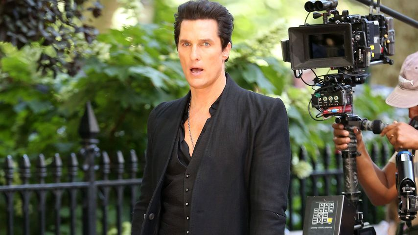 "Matthew McConaughey beim Dreh für ""The Dark Tower"" in New York"