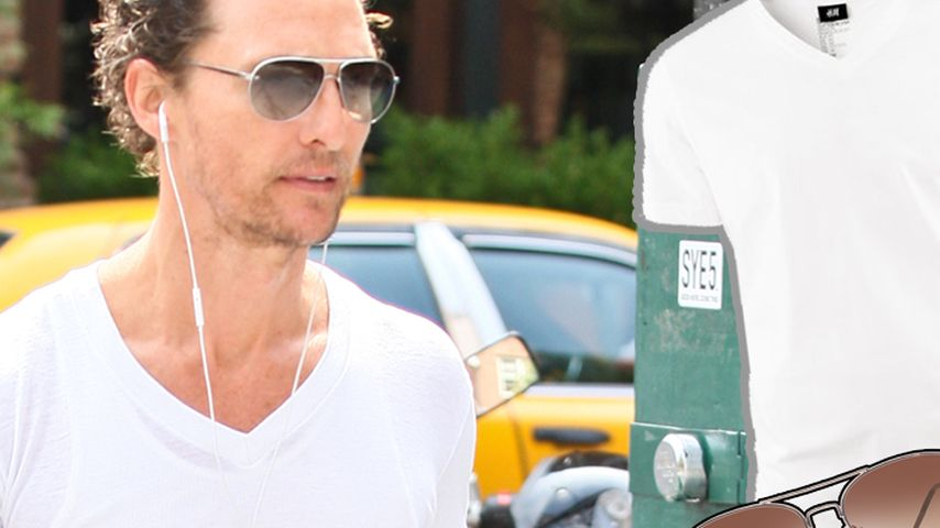 Sporty! So cool joggt Matthew McConaughey