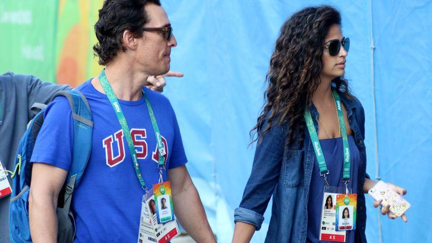 Matthew McConaughey und Camila Alves im Olympia-Fieber in Rio de Janeiro