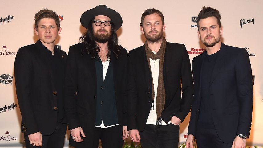 Matthew, Nathan, Caleb und Jared Followill von der Band Kings of Leon