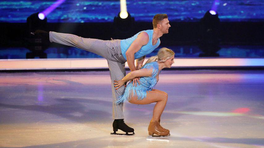 "Matti Landgraf und Aleksandra Bechtel bei ""Dancing on Ice"" 2019"