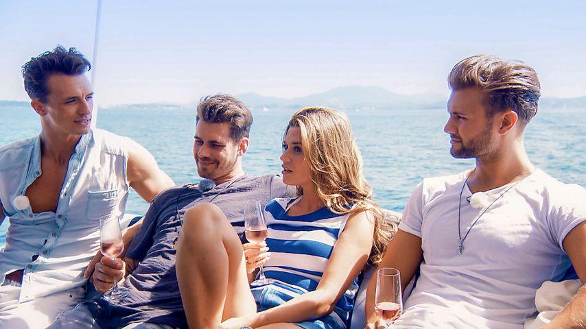 """Maxim, Brian, Nadine und Daniel beim letzten """"Die Bachelorette""""-Gruppendate"""