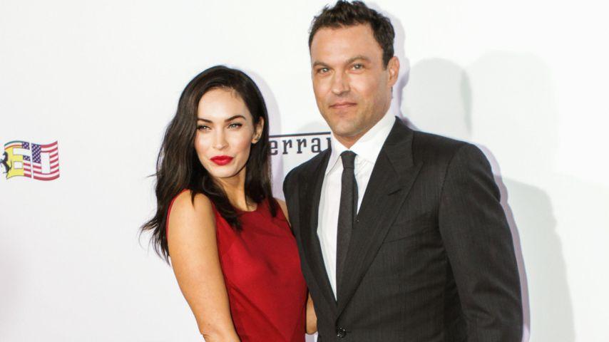 """Megan Fox und Ehemann Brian Austin Green auf einer Gala von """"Ferrari"""" in Beverly Hills"""