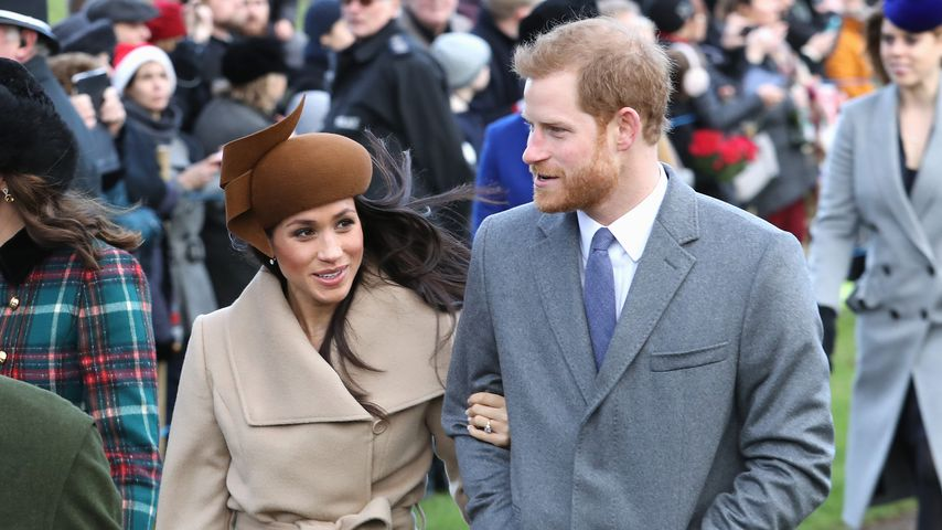 Meghan Markle und Prinz Harry in Sandringham 2017