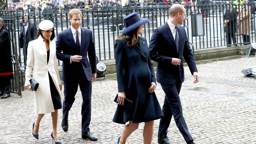 Meghan Markle, Prinz Harry, Herzogin Kate und Prinz William