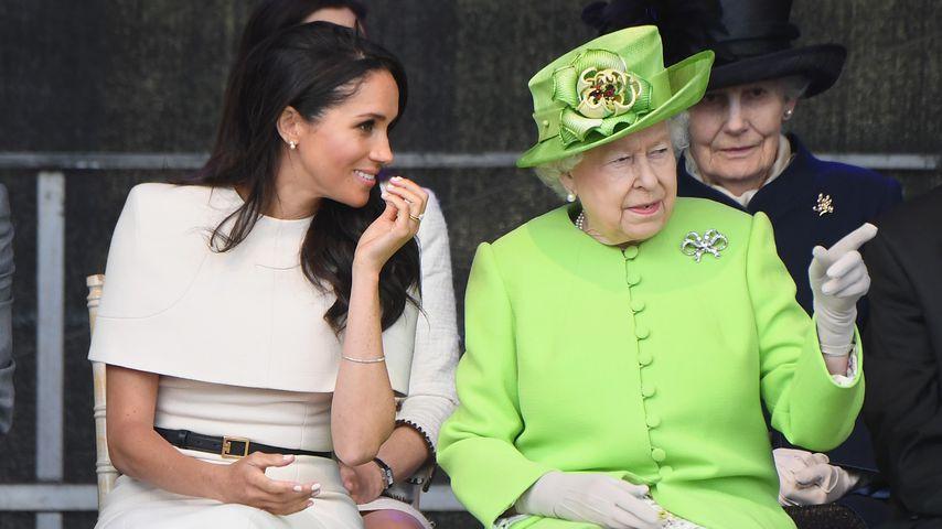 Ganz vertraut: Meghans erster Auftritt nur mit der Queen!