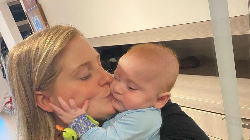 Meghan Trainor und ihr Sohn Riley, Juli 2021