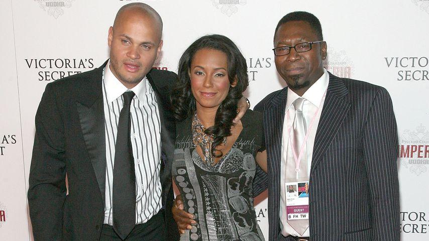 Mel B. mit ihrem Ehemann Stephen Belafonte und ihrem Vater Martin Brown
