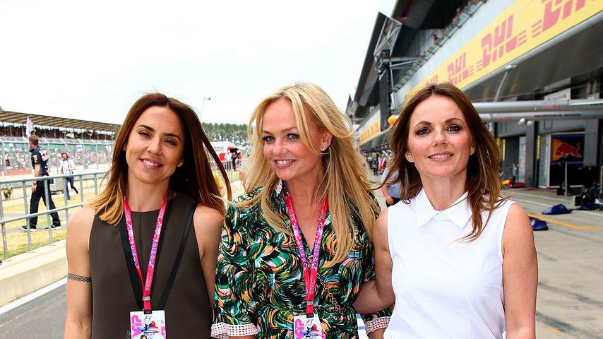 Mel C., Emma Bunton und Geri Horner von den Spice Girls 2015 in Northampton