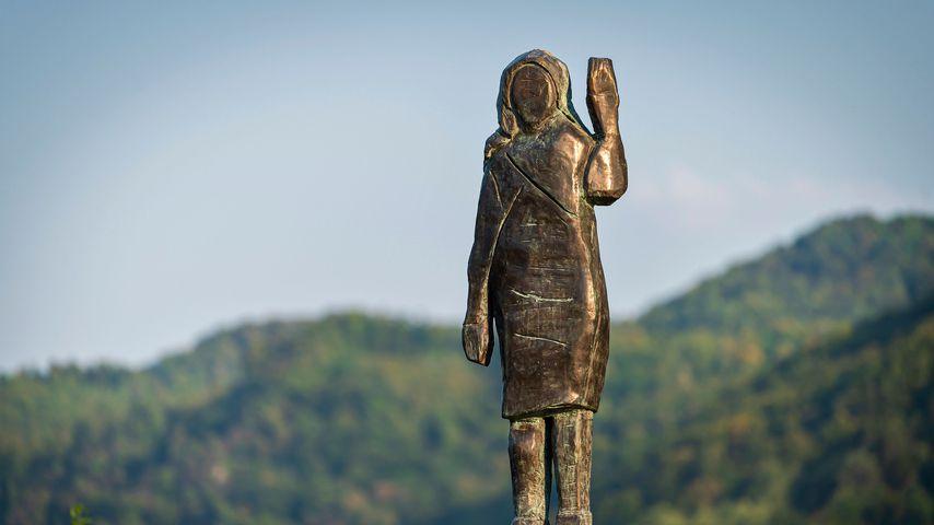 Die Bronze-Statue der Melania Trump im Auftrag des Künstlers Brad Downey