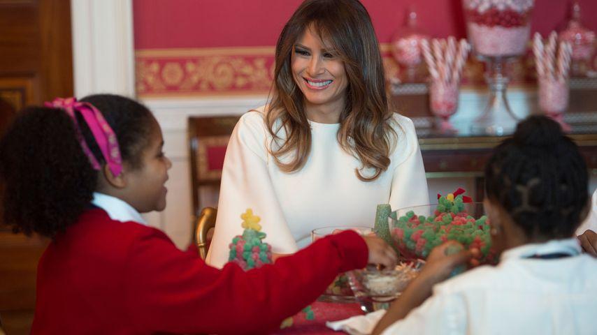 Melania Trump mit Kindern im Weißen Haus