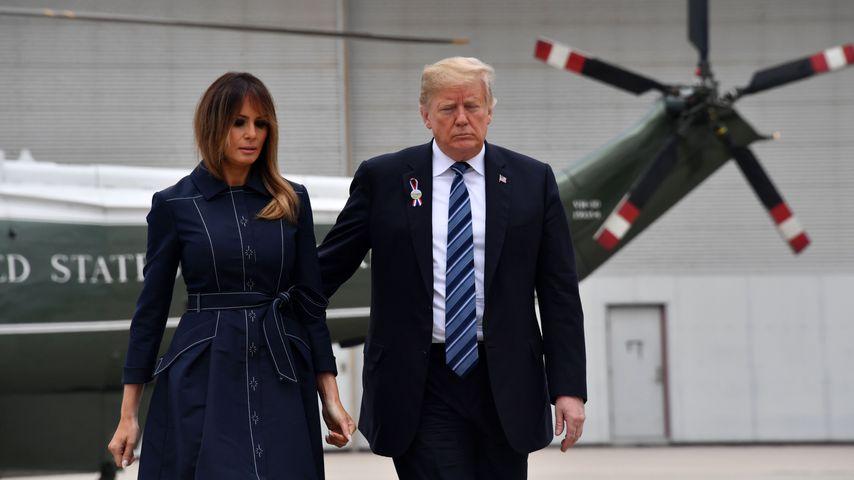 Melania und Donald Trump in Shanksville, Pennsylvania