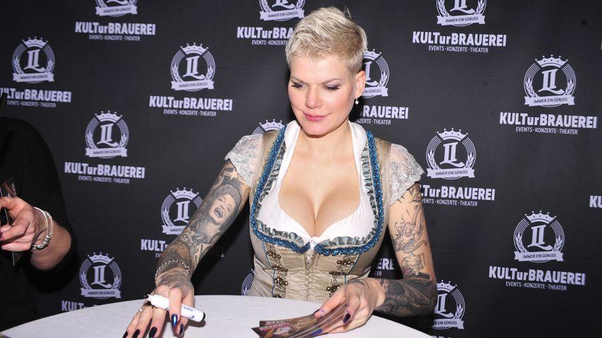 Melanie Müller bei einem Event in Görlitz, Februar 2020